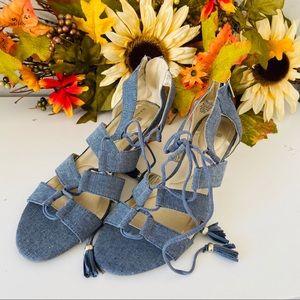 Bandolino Shoes - Bandolino Opiuma Women's Lace Up Sandals Size 7.5